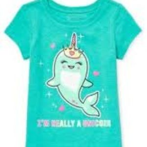 NWT The Children's Place Glitter Unicorn Narwhal